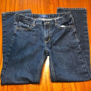 Old Navy straight leg jeans with adjustable waist